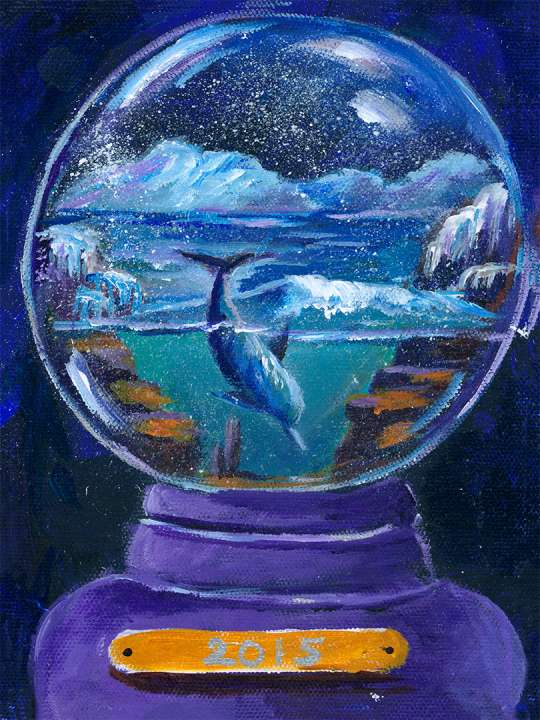 Snow Globe with Dolphin at the Arctic – Downloads
