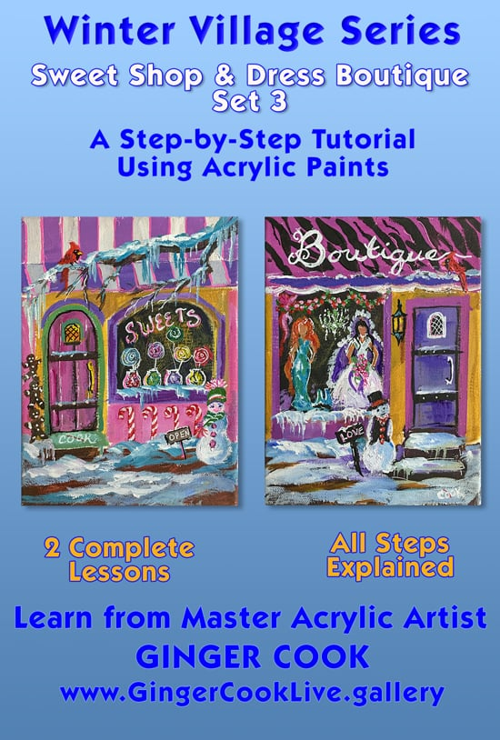 Winter Village Series – Sweet Shop and Dress Boutique – Set 3