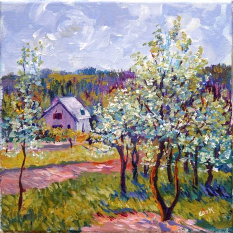 Apple Blossoms Outside Of Paris Final Image
