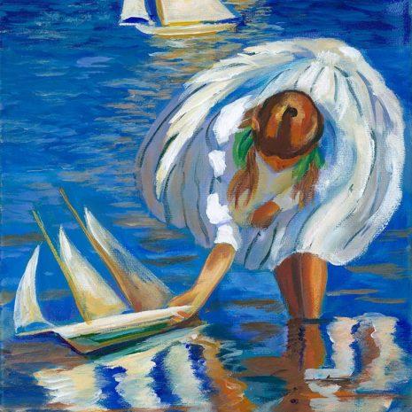 GC Girl With Sailboat CR 1080H