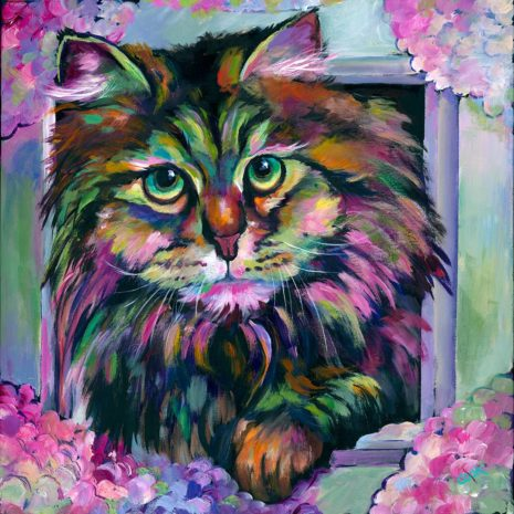 Hyacinth The Cat With Frame CR 1080h70