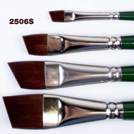 Ruby Satin Silver Angle Brushes 500s60