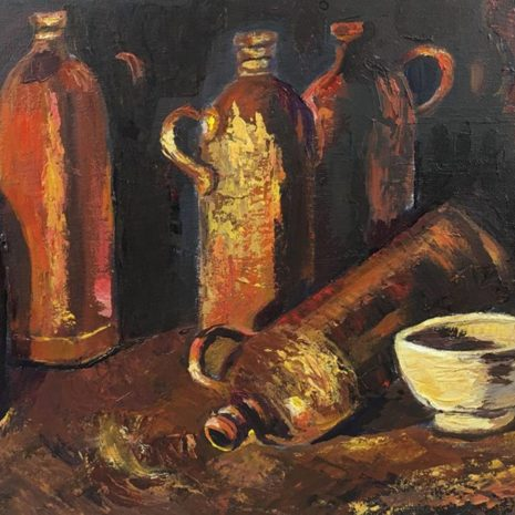 Stone Bottles And Mug By Van Gogh CR 1080h70