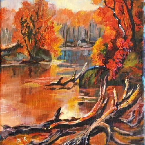 Autumn Lake in Wisconsin