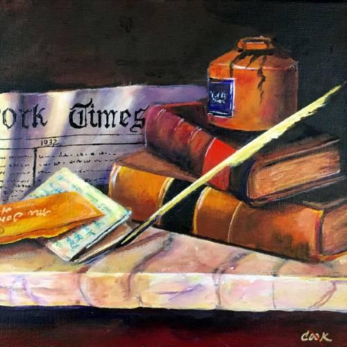 Book and Pen Still Life