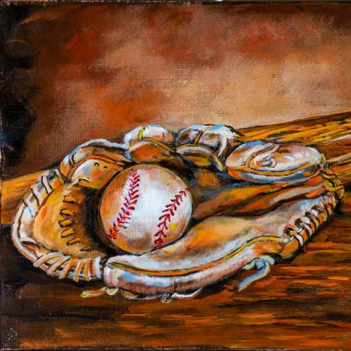 Spring Training a Ball, Bat, and Glove