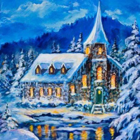 Stone Church In Winter FI 500s70