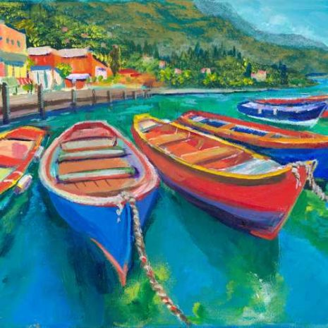 Colorful Wooden Boats GC 500h50
