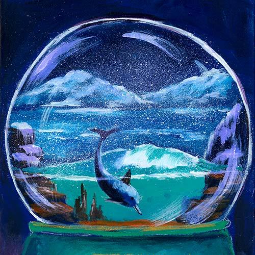 2020 Christmas Show – Undersea Dolphin Snow Globe