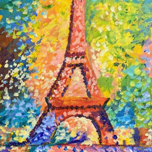 The Eiffel Tower Re-imagined by the Queen of Color