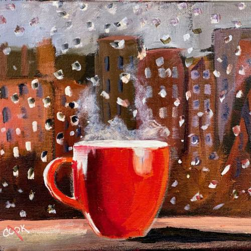 Cup of Joe in the Spring Rain