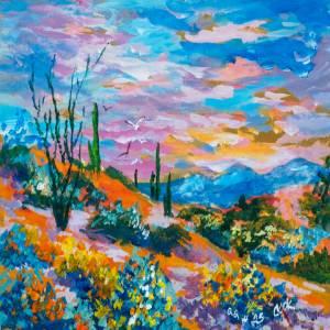 Desert Blooms at Dusk – QQ #25