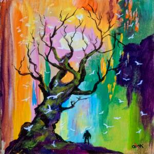 Fantasy Tree Rainbow Sky – QQ #6
