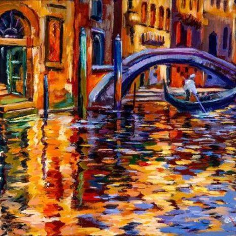 Impressionistic Venice Canal FI 500s70