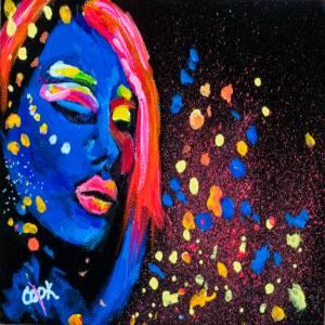 Neon Lady Colorful – QQ #5