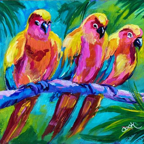 The Three Parrateers in Wonderful Colors