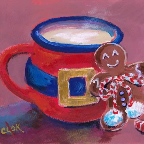 Red Mug and Gingerbread Man