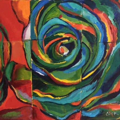 Rose Abstract Puzzle FI 500h70