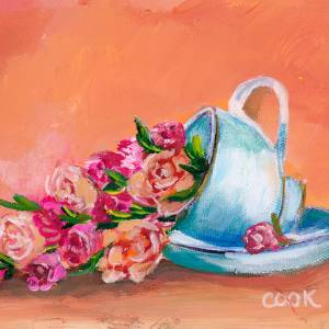 Tea Roses in a Tea Cup