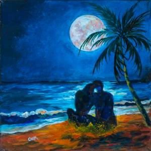 Tropical Beach and Moon – QQ #7