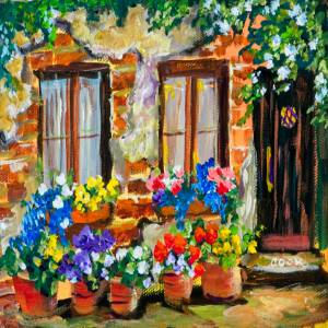 Tuscan Windows with Flowers – QQ #26