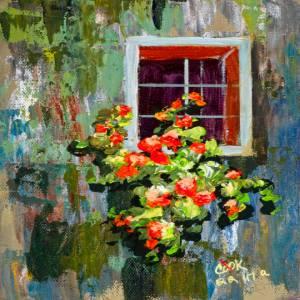 Tuscany Window and Flowers – QQ #47