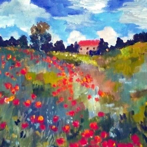 Monet's Hillside of Poppies