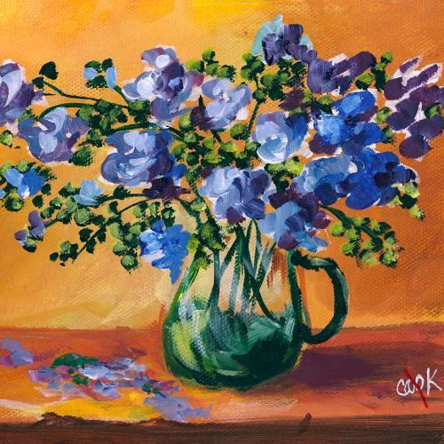 Purple Flower Still Life