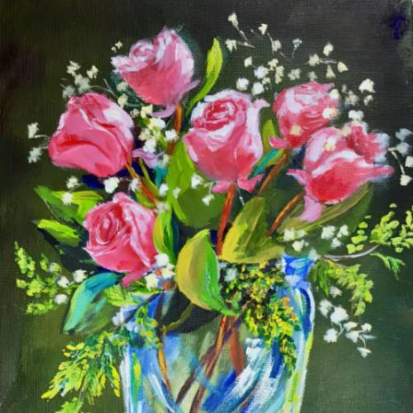 Roses In A Glass Vase 500s Featured