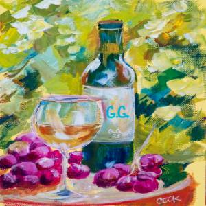 Red Wine Bottle and Wine Glass – QQ #28
