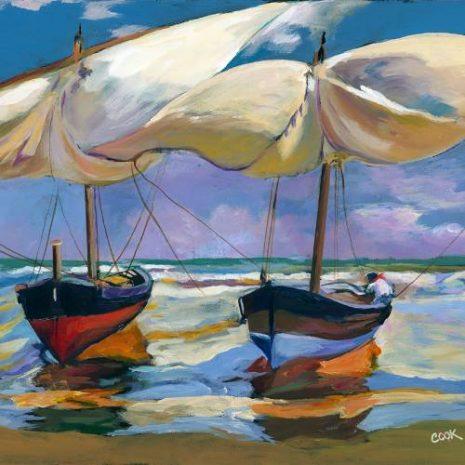 Beached Boats By Joaquin Sorolla Y Bastida FI 500s70