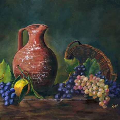 Tuscan Pitcher And Grapes FI 500s70