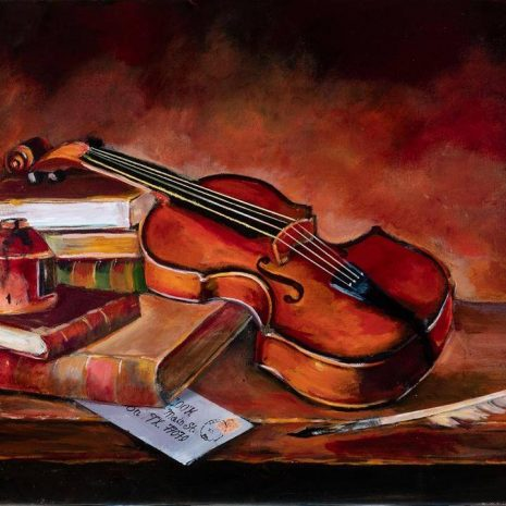 Violin And Books The Still Life CR 720h70