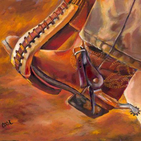 Cowboy Boot In Stirrup FI 500s70