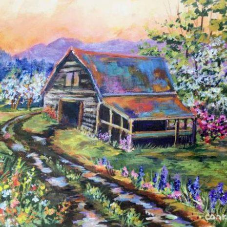 Blue Ridge Mountain With An Old Barn FI 500s70