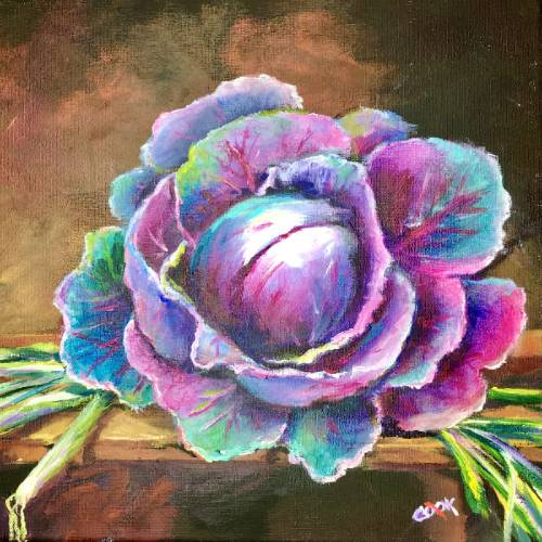Colorful Cabbage on Cutting Board – Introduction