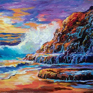 Sunset Beach with a Palette Knife – Introduction