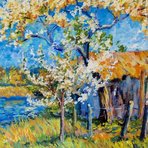Apple Tree Blossoms in a Spring Landscape – Introduction