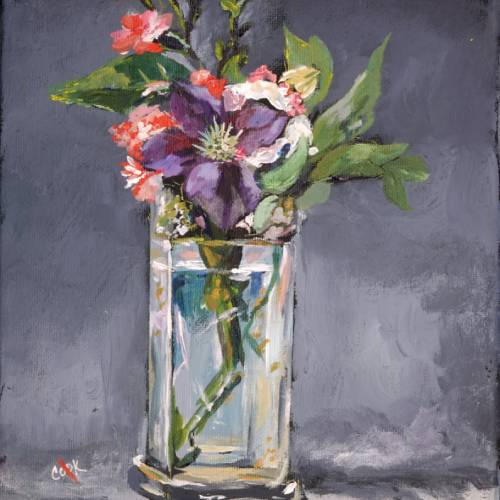 Glass Vase with a Purple Flower – Introduction