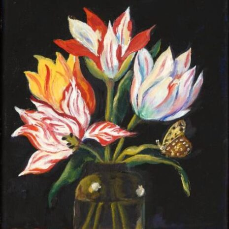 Glass With Four Tulips And Bugs FI 500s70