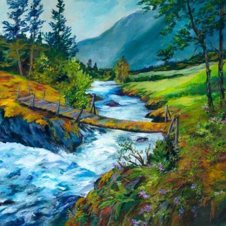 Rapid Winding River In Norway FI 1080h70