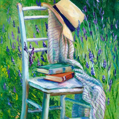 Springtime Garden Chair with a Hat and Book – Introduction