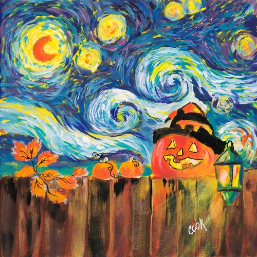 Starry Night Pumpkin – Tutorial